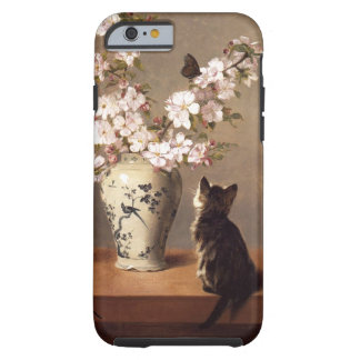 Cat, Butterfly, and Vase of Flowers Tough iPhone 6 Case