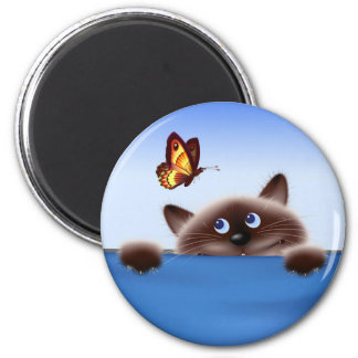 Cat & Butterfly Magnet