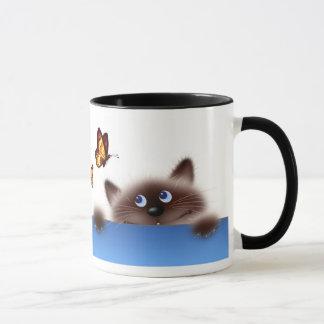 Cat & Butterfly Mug