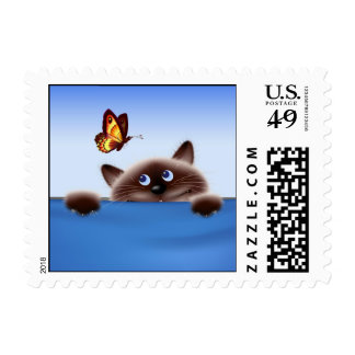 Cat & Butterfly Postage