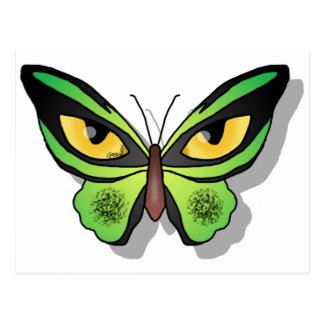 Cat Butterfly Postcard