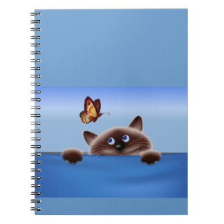 Cat & Butterfly Spiral Notebooks