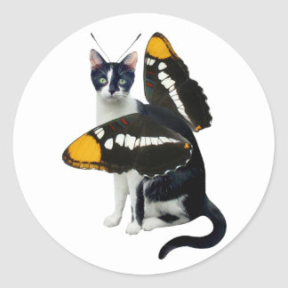 Cat Butterfly Stickers
