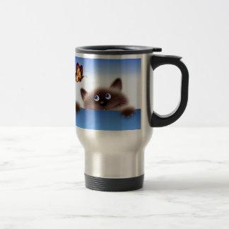 Cat & Butterfly Travel Mug