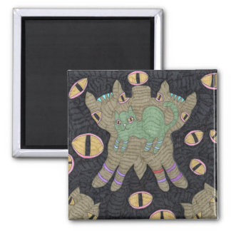 Cat Buutterfly With Eyes Fridge Magnets