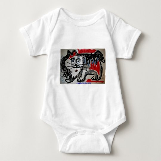 Cat   by Katie Pfeiffer Baby Bodysuit