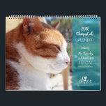 "Cat Calendar 2018 - Chirpy Cats<br><div class=""desc"">The 2018 Chirpy Cats calendar gives you a glimpse into the lives of the TUFCAT community cats living on a campus in South Africa. TUFCAT also has an off-campus &#39;Home for Life&#39; Sanctuary where Mr. Spunky the feral cat was saved from hopelessness to happiness with the help of four abandoned...</div>"