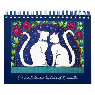 Cat Calendar by Cats of Karavella Atelier