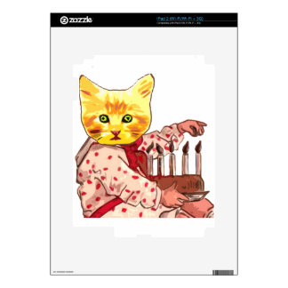 Cat Candles iPad 2 Decal