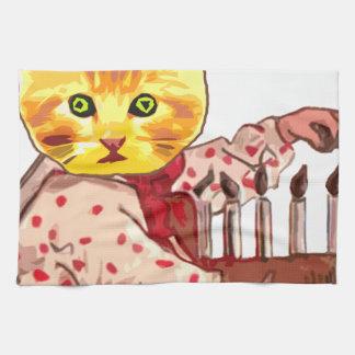 Cat Candles Kitchen Towel