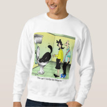 Cat Can't Handle Fish Funerals Sweatshirt