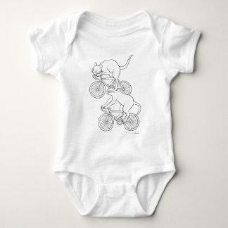 Cat car - cat sprint- A (black) Baby Bodysuit