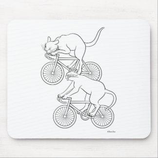 Cat car - cat sprint- A (black) Mouse Pad