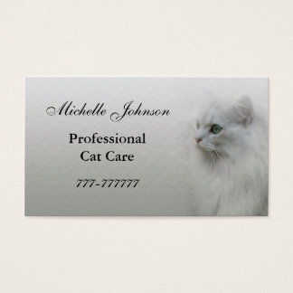 Cat Care Business Card