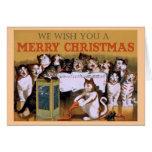 Cat Carolers Christmas Card