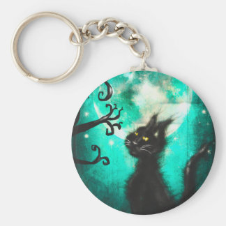 cat carries key keychain