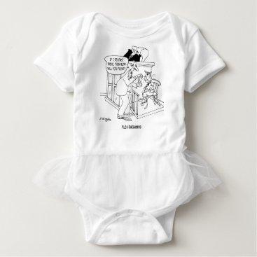 Lawyer Themed Cat Cartoon 5619 Baby Bodysuit