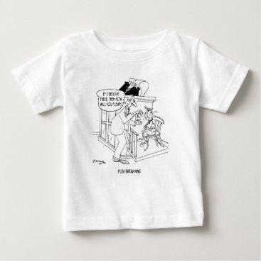 Lawyer Themed Cat Cartoon 5619 Baby T-Shirt