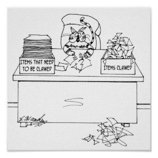 Cat Cartoon 6893 Poster