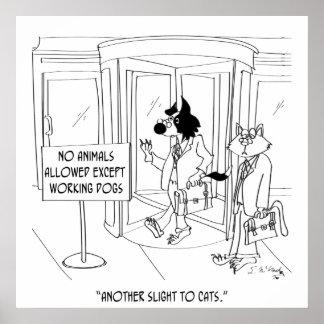 Cat Cartoon 9343 Poster