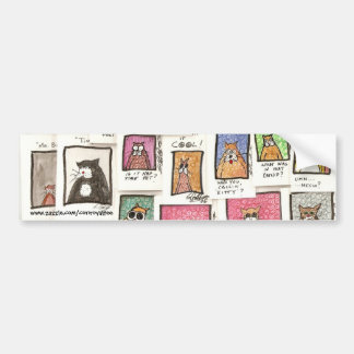 Cat Cartoon Bumper sticker