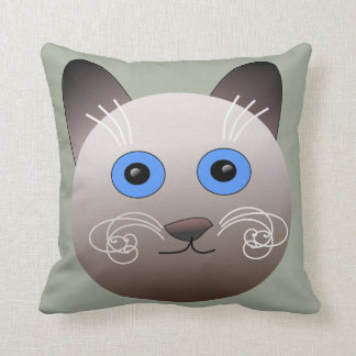Cat Cartoon Drawing Picture Print Pillow