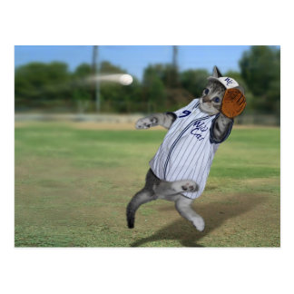Cat Catcher in the Outfield! Postcard