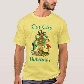 Cat Cay, Bahamas with Coat of Arms T-Shirt