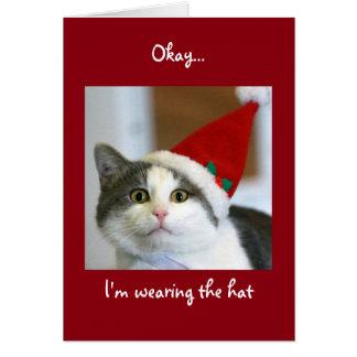 Cat-Centric Christmas Card