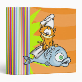 Cat Chef and Fish Avery Binder
