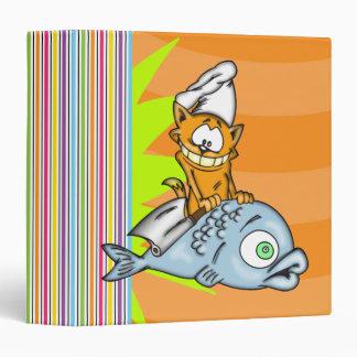 Cat Chef and Fish Avery Binder