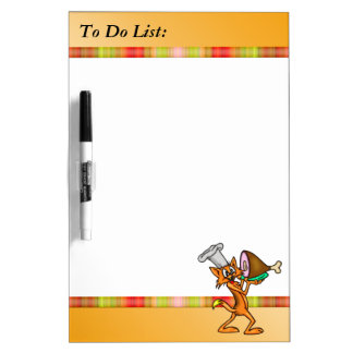 Cat Chef To Do List Dry Erase Board