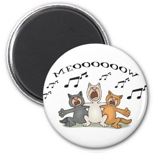 Cat Choir 2 Inch Round Magnet