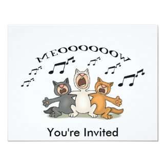 Cat Choir Card