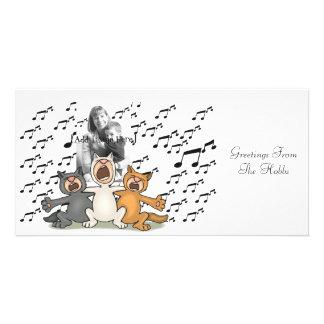 Cat Choir Card