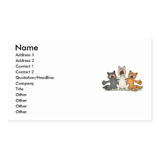 Cat Choir Double-Sided Standard Business Cards (Pack Of 100)