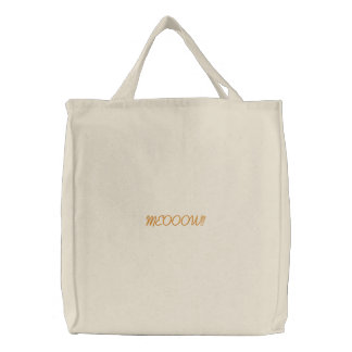 Cat Choir Embroidered Tote Bag