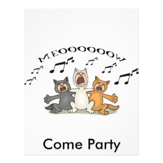 """Cat Choir 8.5"""" X 11"""" Flyer"""