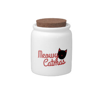 Cat Christmas Candy Dishes