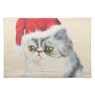Cat Christmas Cloth Placemat