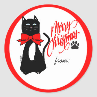 Cat-Christmas Gift Tag