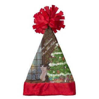 Cat christmas hat