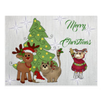 Cat Christmas Postcard