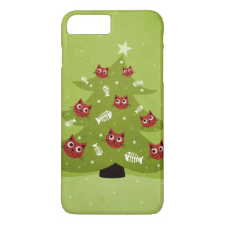 Cat Christmas Tree With Fish Ornaments iPhone 8 Plus/7 Plus Case