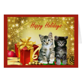 Cat Chrstmas Card