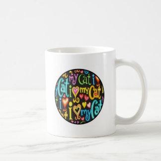 cat circle mug