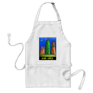 cat city adult apron