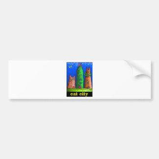 cat city bumper sticker