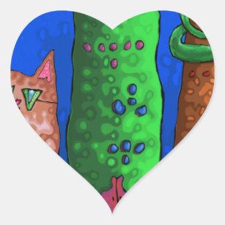 cat city heart sticker