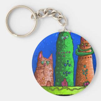 cat city keychain